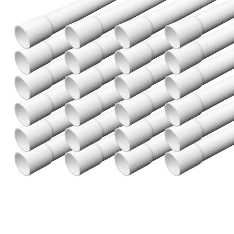 ARLI Kabelkanal »Elektrorohr Kabelrohr M20 Stangenrohr Leerrohr PVC gemufft Installationsrohr 20 mm Rohr 1m Kanal Set - 1252« (24 meter / 24 Kabelrohre, 24-St), Einseitig gemufft