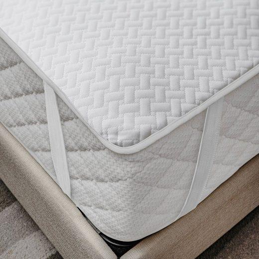 Matratzenschoner »wasserdicht«, Abakuhaus, (1-tlg), weich atmungsaktives Schutz überwurf elastisch und rutschfest 100x200cm für Doppelbetten