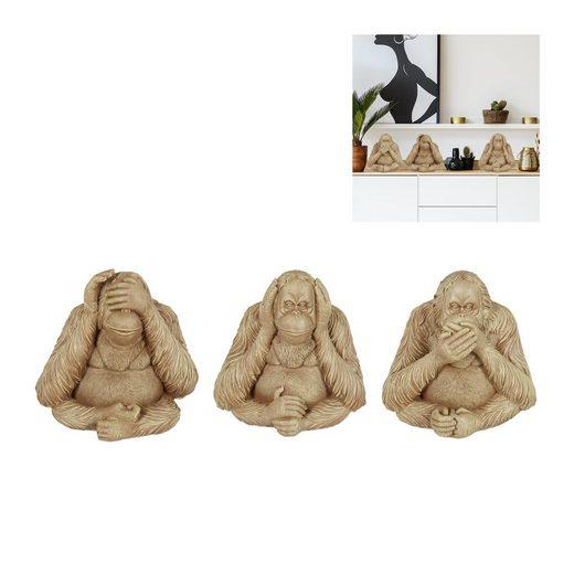 relaxdays Dekofigur »Drei Affen Orang-Utan«