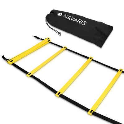 Navaris Koordinationsleiter, 6m Workout Agility Leiter - Basketball Fussball Speed Ladder - Trainingsleiter Geschwindigkeit Training - mit Tasche
