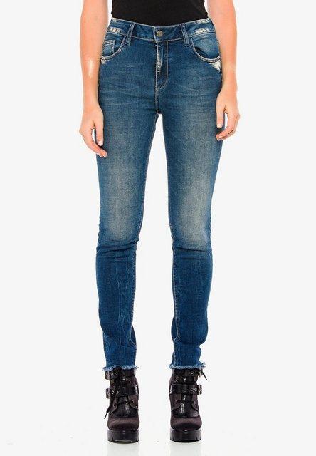 Hosen - Cipo Baxx Bequeme Jeans mit coolen Used Details in Slim Fit ›  - Onlineshop OTTO