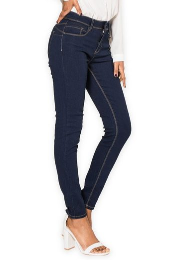Simply Chic Skinny-fit-Jeans »2610« Damen Jeans Skinny Fit Push Up Stretch Casual Chic