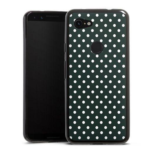 DeinDesign Handyhülle »Polka Dots - schwarz und weiß« Google Pixel 3a, Hülle Punkte Retro Polka Dots