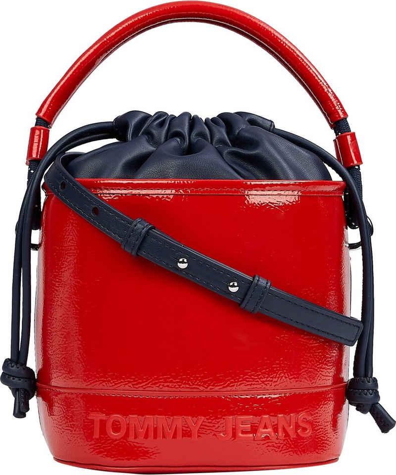 Tommy Jeans Beuteltasche »TJW FEMME BUCKET BAG CRINKLE«, mit modischem Lack Finish
