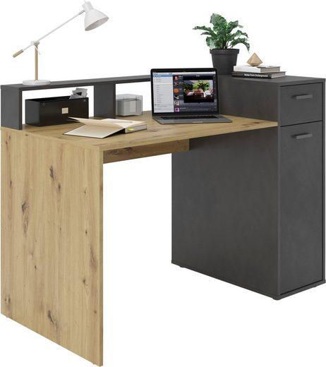 FMD Schreibtisch »Quebec«, Schreibtisch mit Schubkasten und Tür