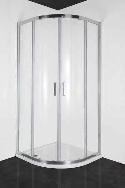 Sanotechnik Runddusche »ELITE«, BxT: 90x90 cm, Einscheibensicherheitsglas, 1-tlg., mit Antikalk-Versiegelung