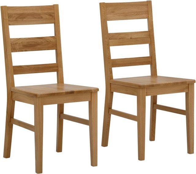 Essgruppen - Home affaire Essgruppe »Nils 4«, (Set, 5 tlg., Tisch 80 x 80, 2 Stühle, Holzsitz), aus Massivholz  - Onlineshop OTTO