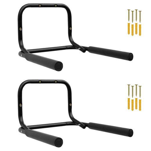 Wellgro Fahrradhalter »2x Wand Fahrradhalter - Stahl - Wandfahrradhalter - Fahrradständer - klappbar - Tragkraft bis 50 kg - Wandmontage - weiche Schaumstoffpolsterung«