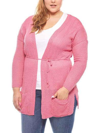 Heine Outdoorjacke »rick cardona Pullover Grobstrick Jacke Damen Jacke Große Größen Rosa«