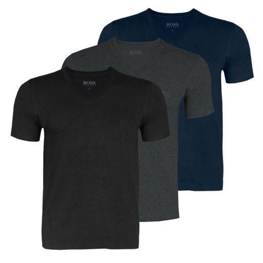 Boss Unterziehshirt »Herren Business T-Shirts« (3 Stück), mit fein geripptem V-Ausschnitt