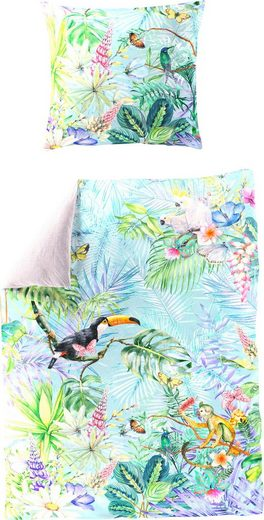 Wendebettwäsche »Tropical Monkey«, BIERBAUM, mit tropischem Print
