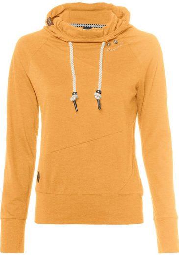 Ragwear Sweatshirt »FUGE« mit Zierknopfbesatz in Holzoptik