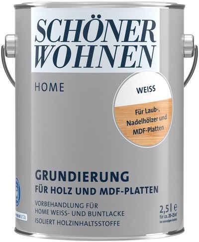 SCHÖNER WOHNEN-Kollektion Isoliergrundierung »Duracryl Holzisoliergrund 2,5 L, weiß«, für Holz & MDF-Platten, weiß