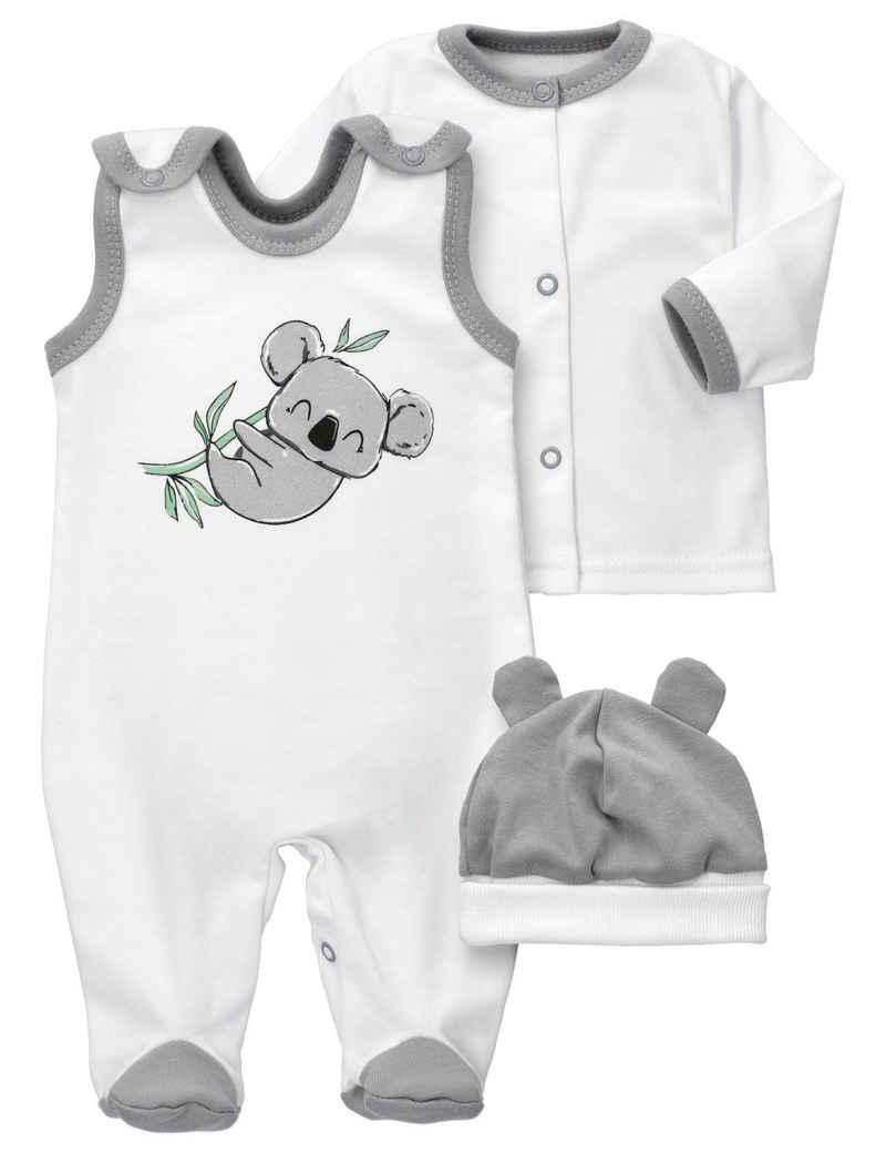 Baby Sweets Shirt, Strampler, Jäckchen, Mütze & Schühchen »3tlg Set Strampler + Shirt + Mütze Baby Koala« (3-tlg)