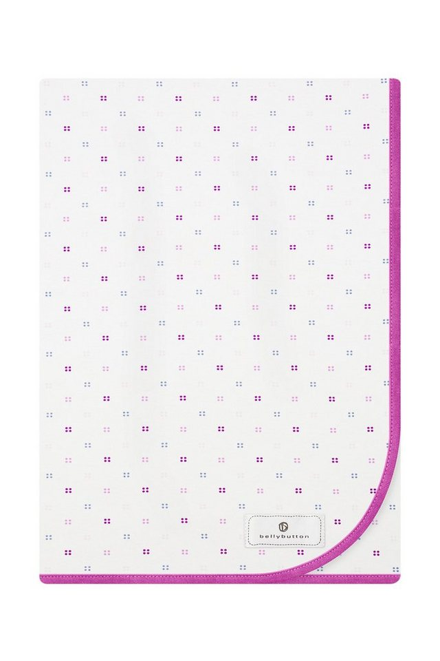 BELLYBUTTON Jerseydecke in white/pink printed