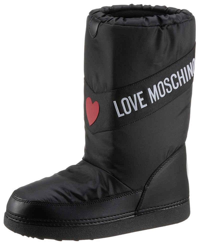 LOVE MOSCHINO Winterboots mit Kontrastbesatz
