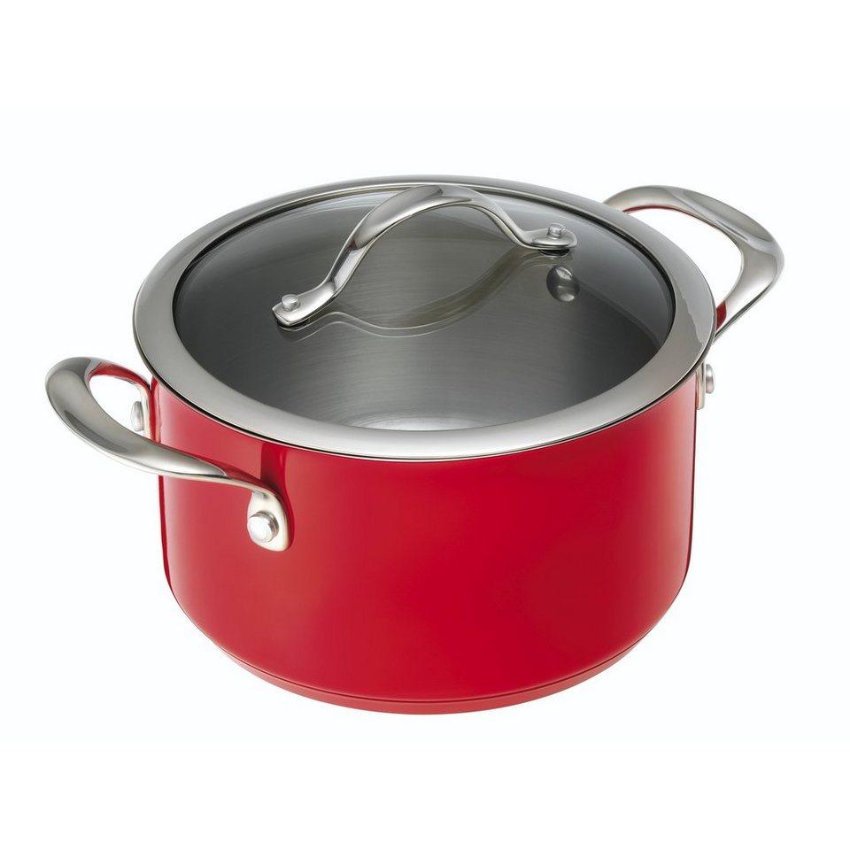 Kuhn Rikon Kochtopf 5,50 Liter »Colori« in Rot