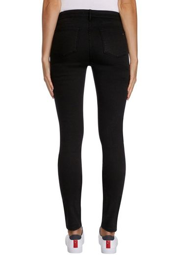 TOMMY HILFIGER Skinny-fit-Jeans »HERITAGE COMO SKINNY RW« mit goldfarbenen Nieten