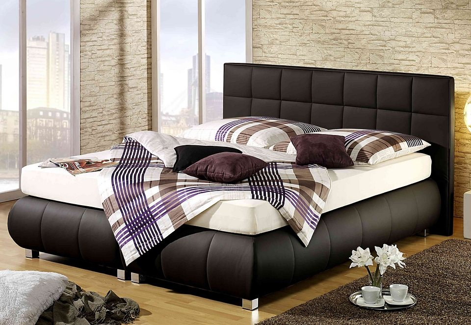 Maintal Boxspringbett in schwarz