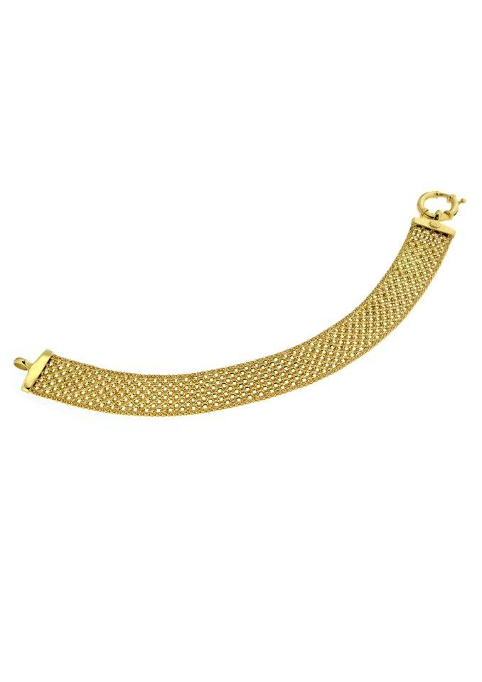 firetti Armschmuck: Armband in Bismarck- und Popcornkettengliederung in goldfarben