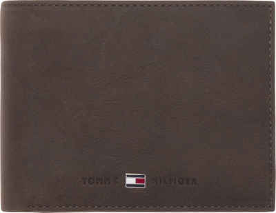 Tommy Hilfiger Geldbörse »JOHNSON CC FLAP AND COIN POCKET«, aus hochwertigem Leder