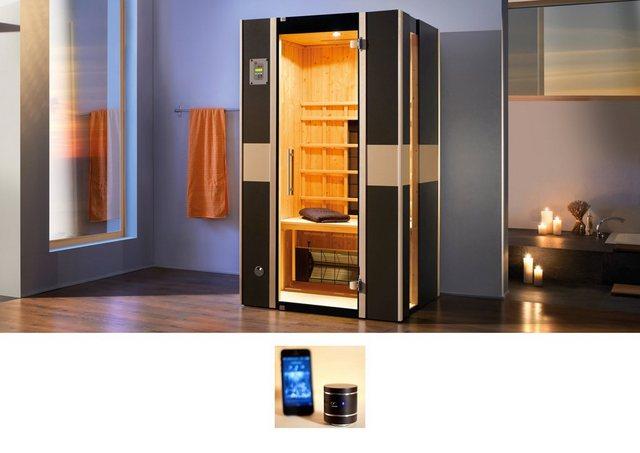 Saunen und Zubehör - weka Infrarotkabine »543 Graphit«, BxTxH 108 x 99 x 190 cm, 59 mm, 59 mm, für bis zu 2 Personen  - Onlineshop OTTO