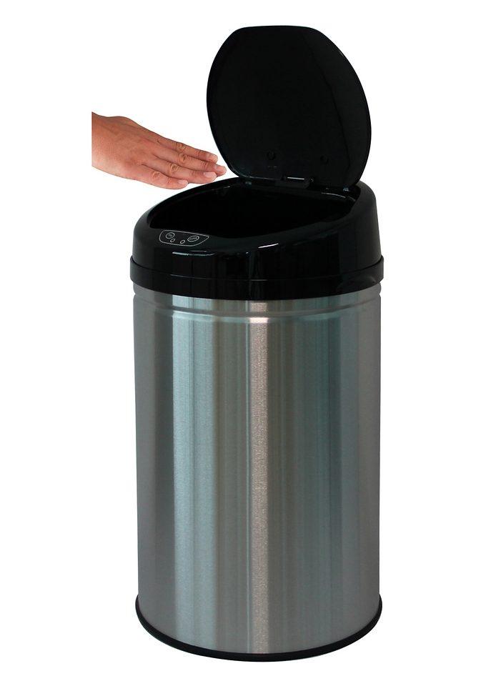 Edelstahl-Abfalleimer, ECHTWERK, »INOX BRUSHED«, mit Infrarotsensor, 30 Liter