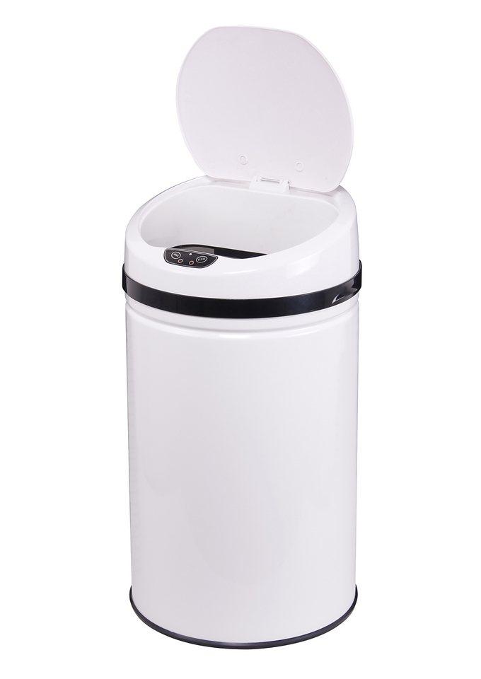 Edelstahl-Abfalleimer, ECHTWERK, »INOX WHITE«, mit Infrarotsensor, 42 Liter in weiß