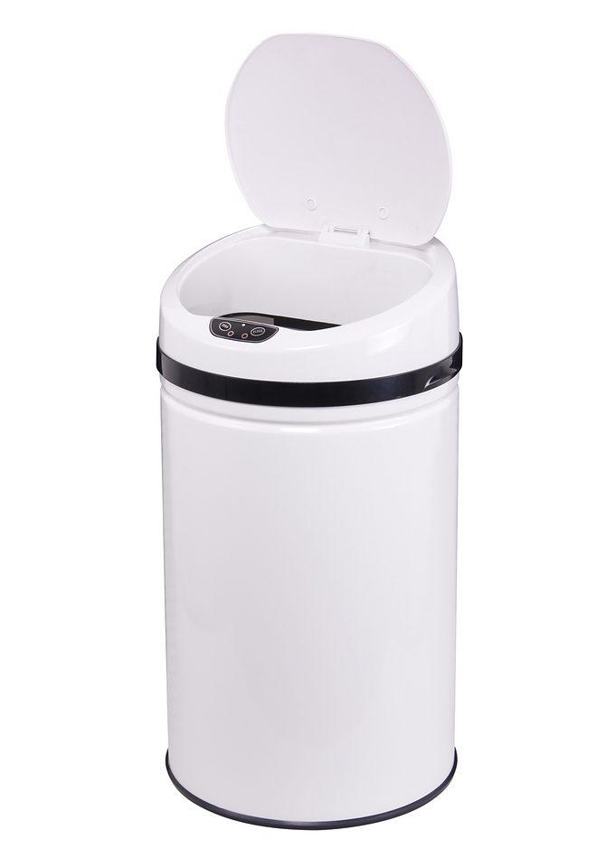 Edelstahl-Abfalleimer, ECHTWERK, »INOX WHITE«, mit Infrarotsensor, 42 Liter