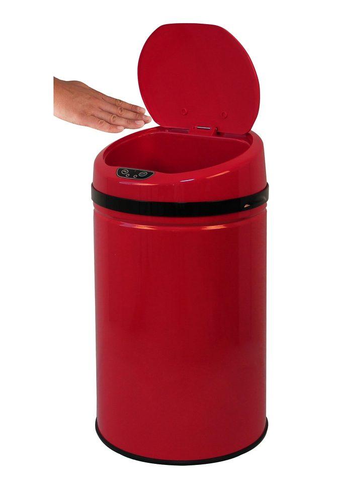 Edelstahl-Abfalleimer, ECHTWERK, »INOX RED«, mit Infrarotsensor, 30 Liter