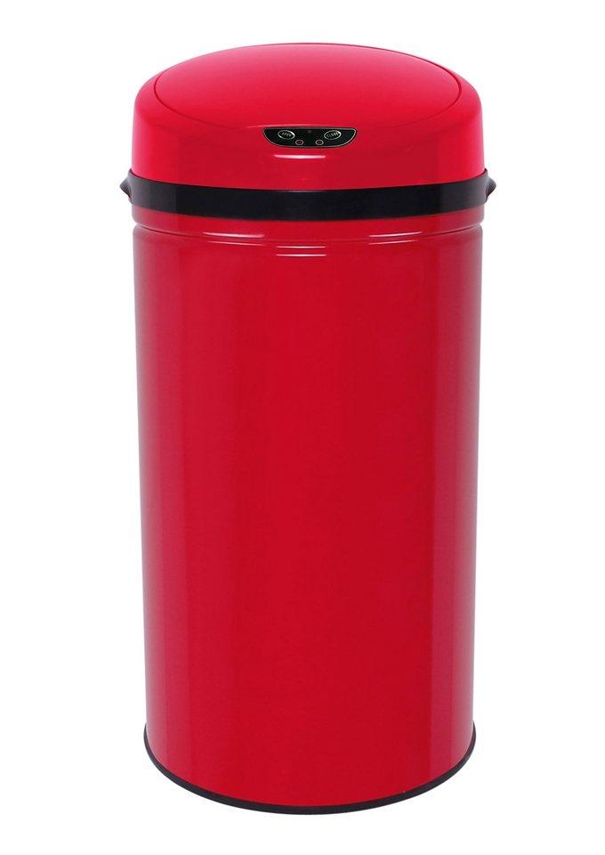 Edelstahl-Abfalleimer, ECHTWERK, »INOX RED«, mit Infrarotsensor, 42 Liter in rot