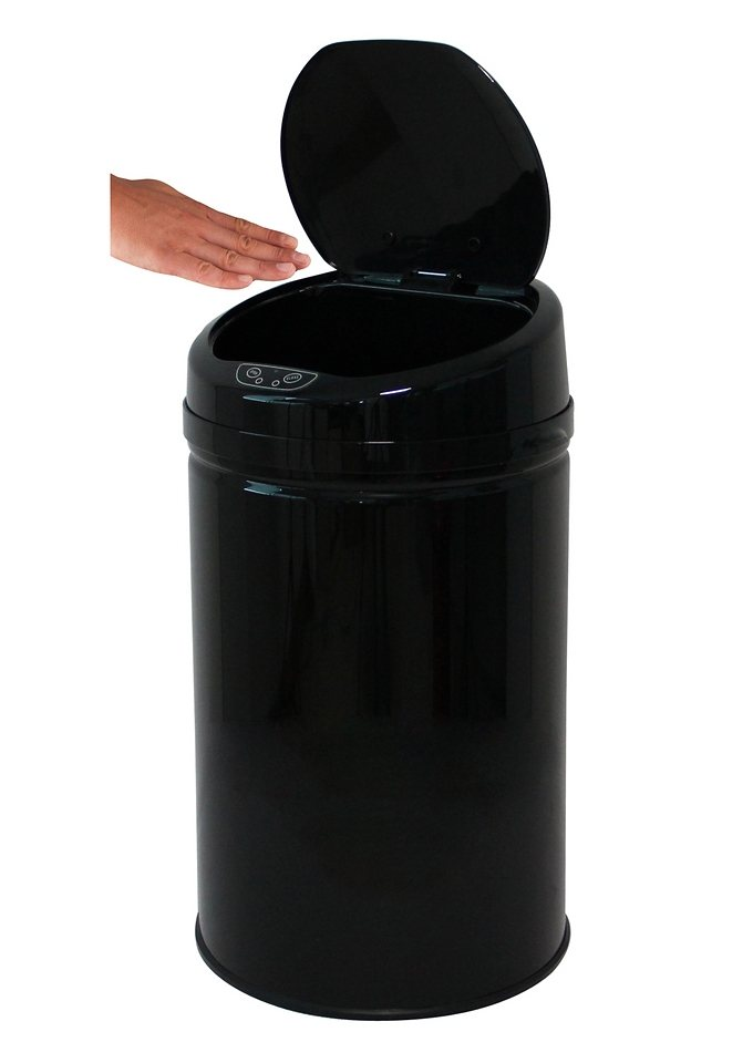 Edelstahl-Abfalleimer, ECHTWERK, »INOX BLACK«, mit Infrarotsensor, 30 Liter in schwarz
