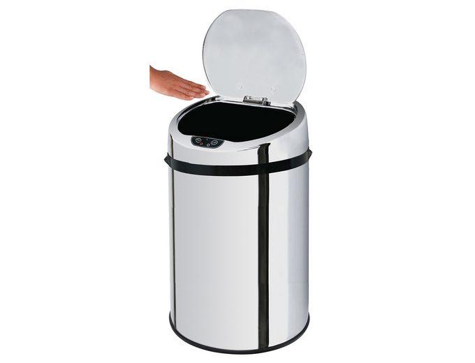Edelstahl-Kosmetikabfalleimer, ECHTWERK, »INOX«, mit Infrarotsensor, 9 Liter