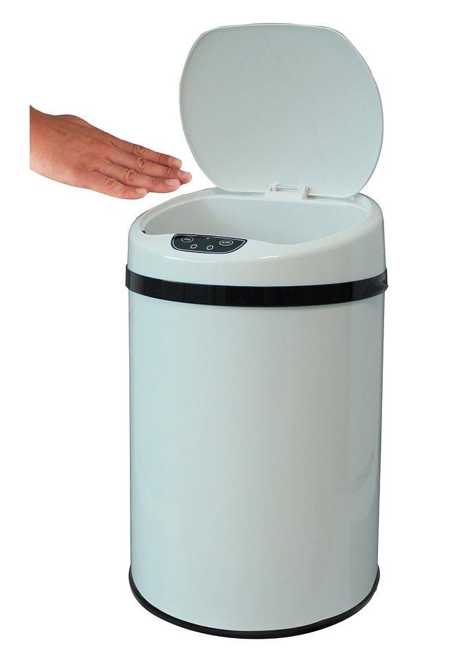 Edelstahl-Kosmetikabfalleimer, ECHTWERK, »INOX WHITE«, mit Infrarotsensor, 9 Liter in weiß