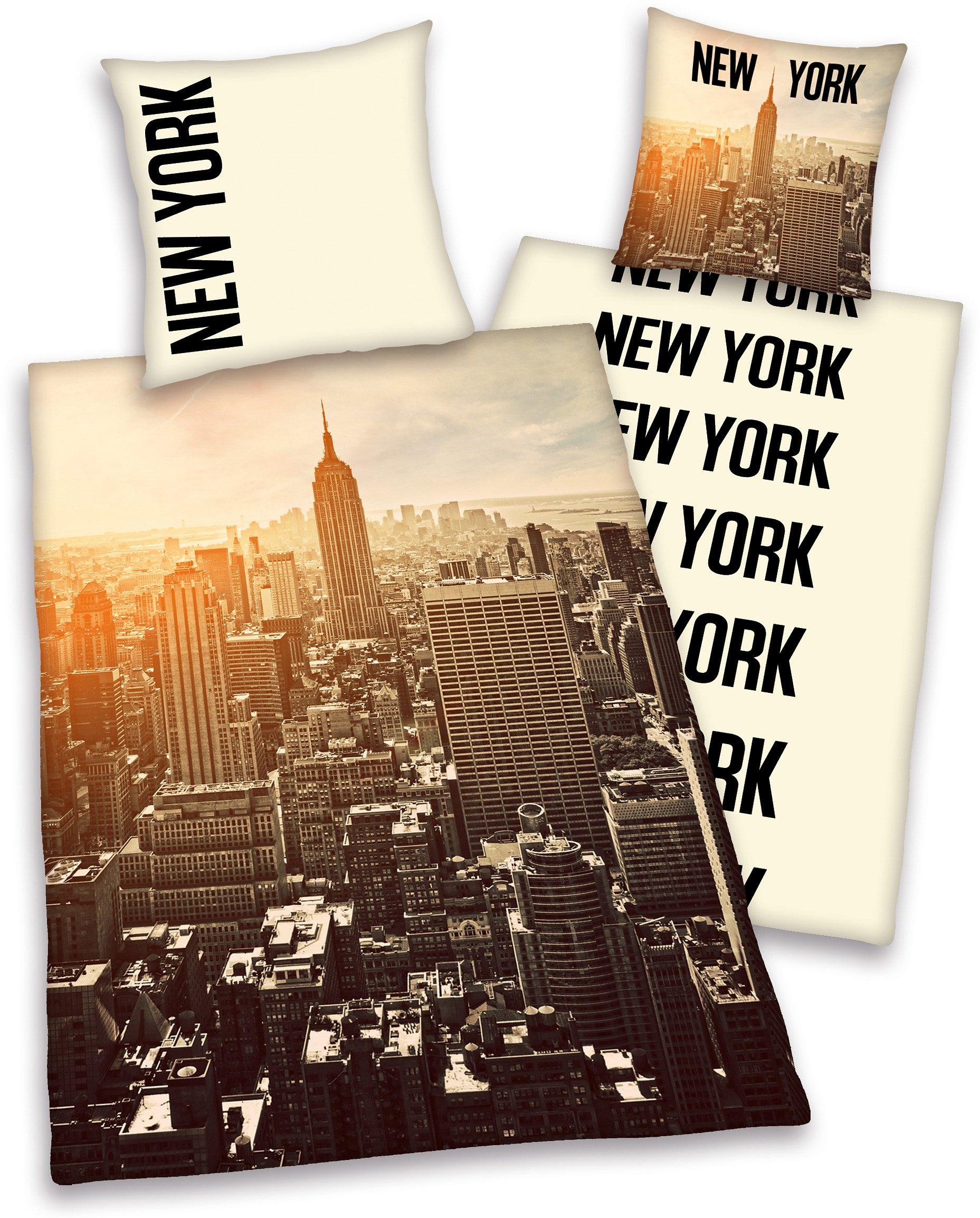 Wendebettwäsche, Young Collection, »NewYork«, mit Skyline