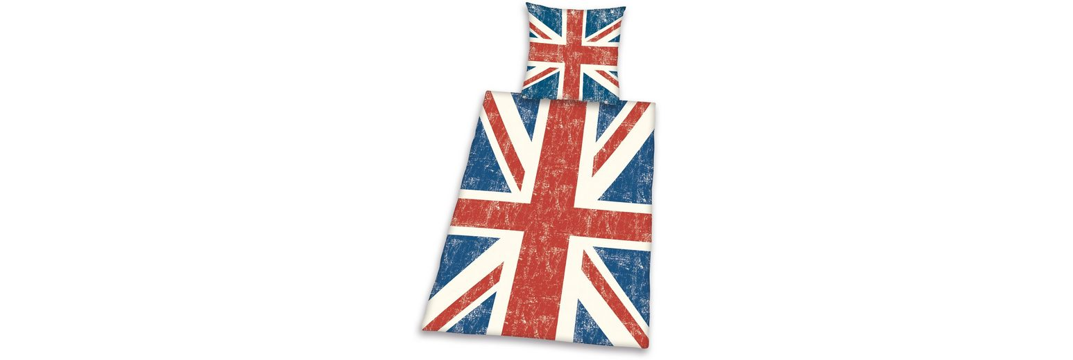 Bettwäsche, Young Collection, »Union Jack«, mit Flagge