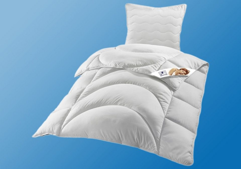 set microfaserbettdecken kopfkissen traumecht microlux warm von testschl fern mit sehr. Black Bedroom Furniture Sets. Home Design Ideas