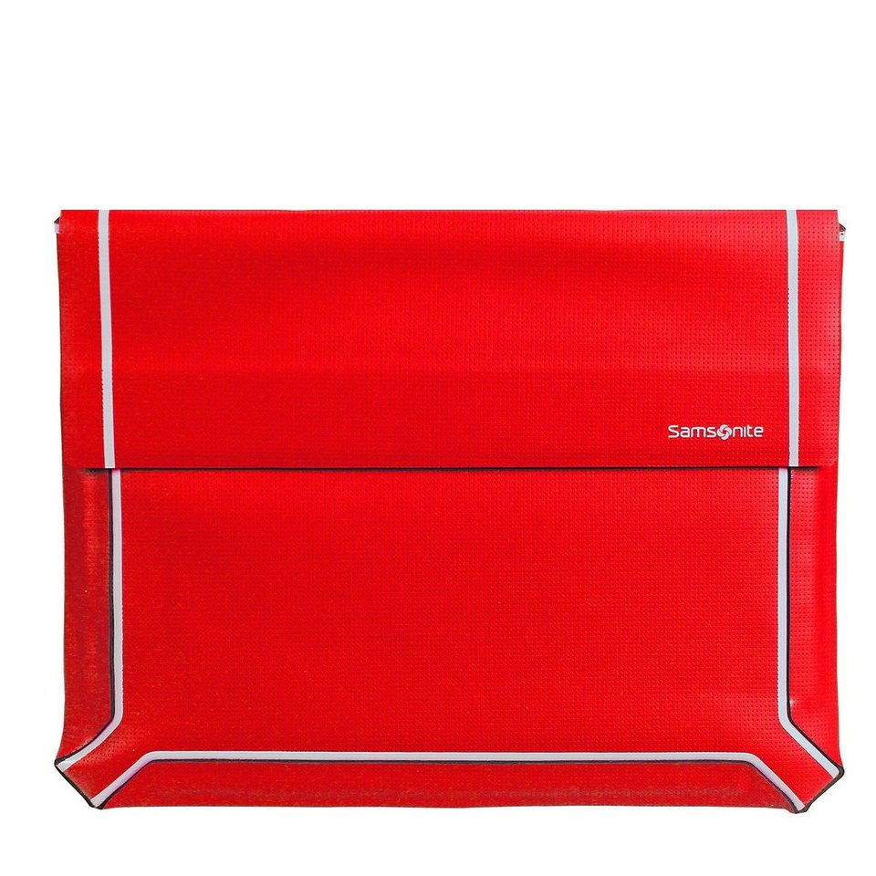 Samsonite Samsonite Thermo Tech Laptop Sleeve Laptophülle 34 cm in red-grey