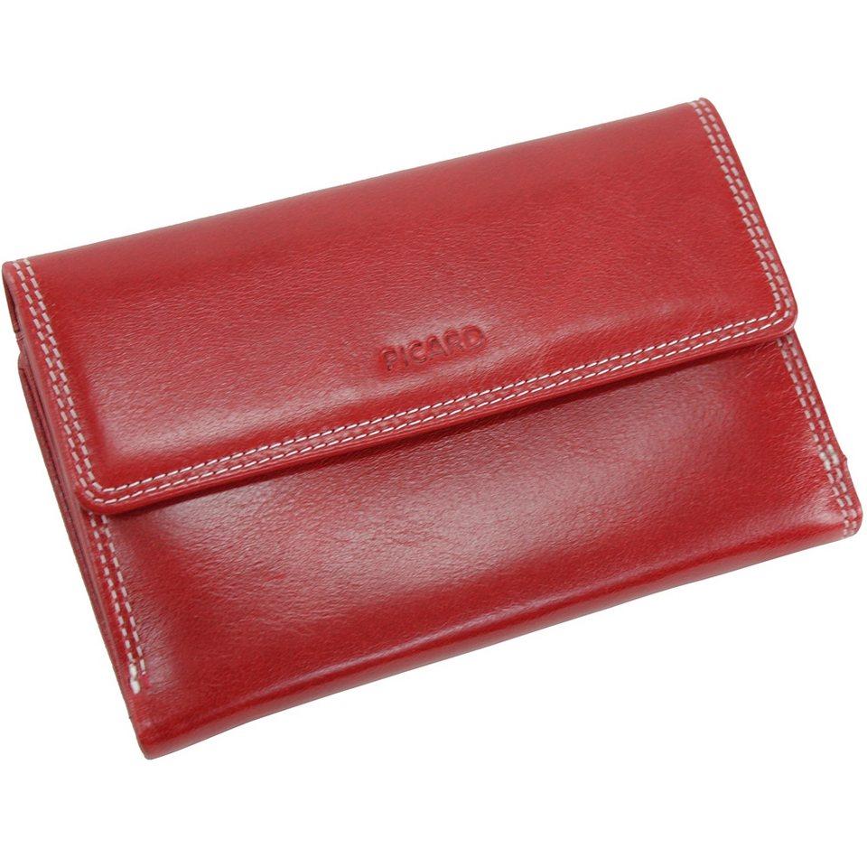 Picard Porto Geldbörse Leder 14 cm in rot