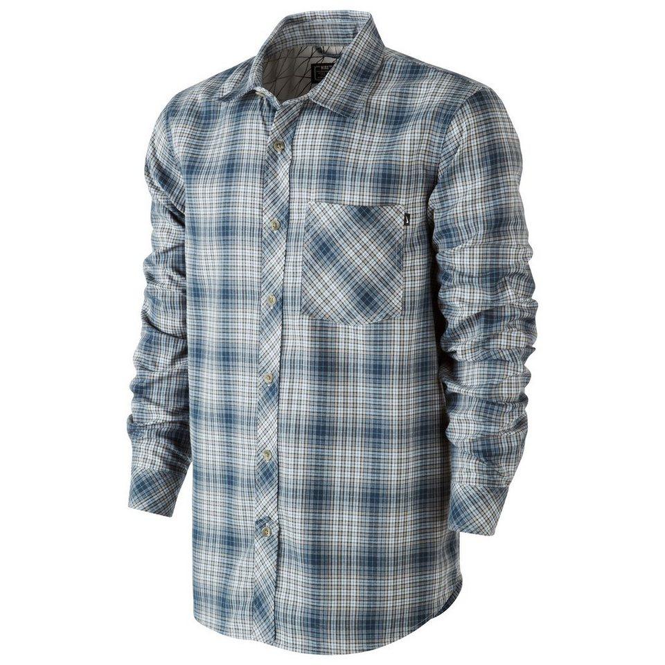 Nike Sportswear Raleigh Plaid Flannel Hemd Herren in blau / grau