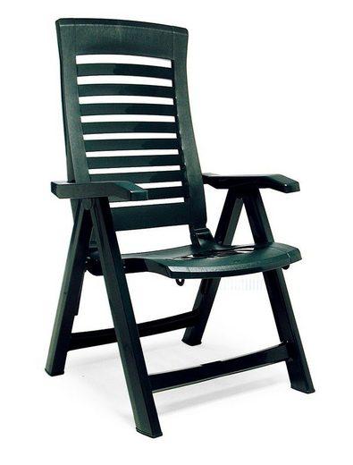 Best Gartenstuhl »Forida« (Set, 2 Stück), 2er Set, Kunststoff, verstellbar, grün