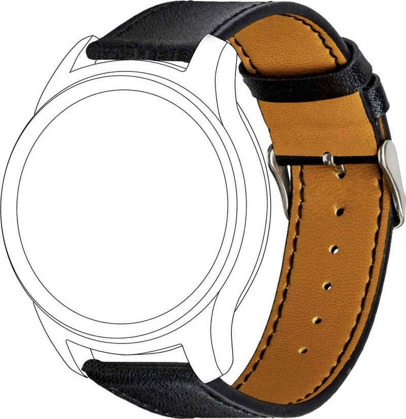 topp Accessoires Wechselarmband »Smartwatch-Zubehör Band Schwarz Echtes Leder«