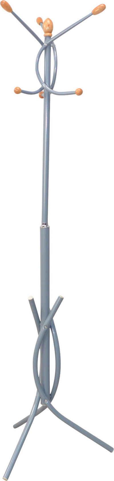Garderobenständer, aus Metall, Höhe 175 cm, 6 Haken