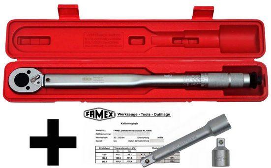FAMEX Drehmomentschlüssel »Drehmoment-Schlüssel-Set 3-tlg.« (3 St), (3-tlg)30-210 Nm