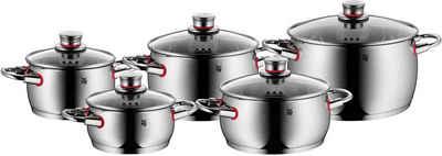 WMF Topf-Set »Quality One«, Cromargan® Edelstahl Rostfrei 18/10, (Set, 10-tlg)