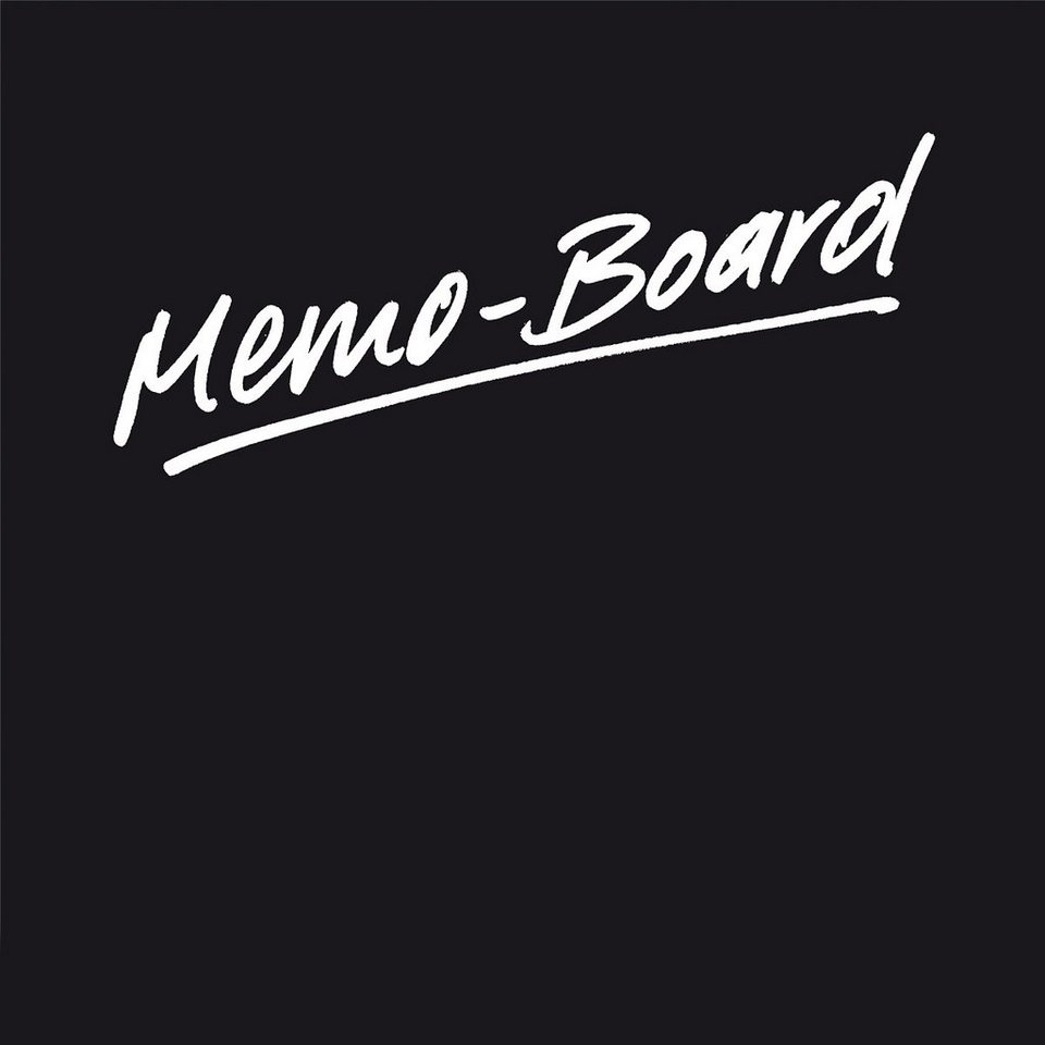 Eurographics Memo Board magnetisch aus Glas »Black« in schwarz