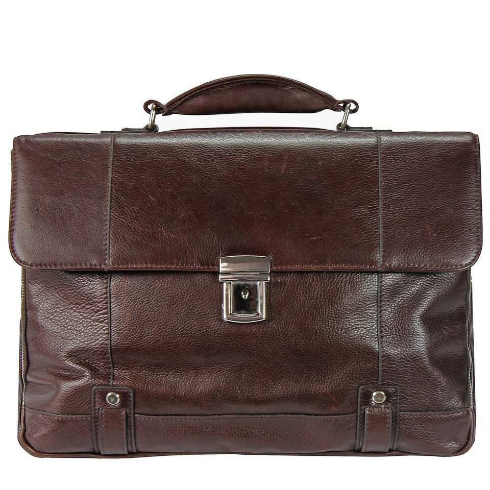 d & n Classic Brown Aktentasche Leder 40 cm in braun