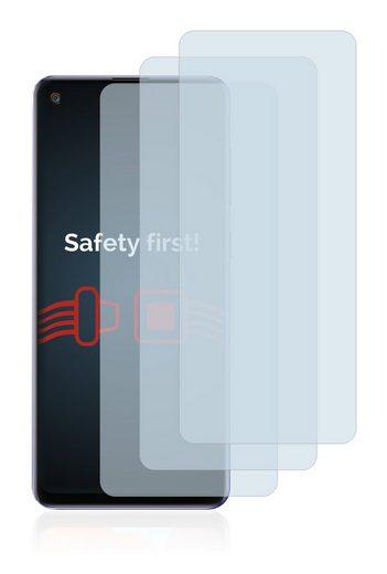 Savvies Schutzfolie »Panzerglas für Samsung Galaxy A21s«, (3 Stück), Schutzglas Echtglas 9H klar