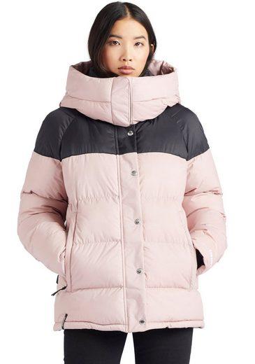 khujo Steppjacke »ADANE« stylische Winterjacke mit abnehmbarer Kapuze