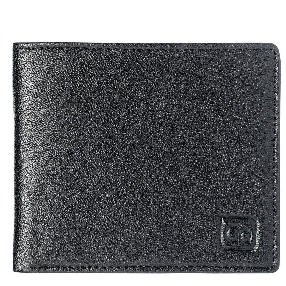 Go Travel Geldbeutel + Geldgürtel RFID Geldbörse Leder 11 cm in black